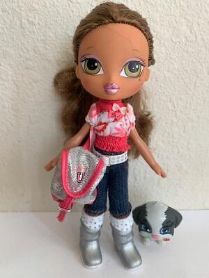 Girlz Bratz Kidz Kid School Yasmin Doll Brown Hair Original Clothes Shoes Purse