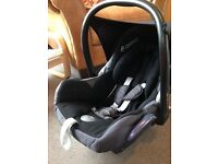 Maxi cosi car seat to be used upto 9 months