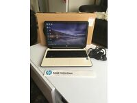Hp laptop in white