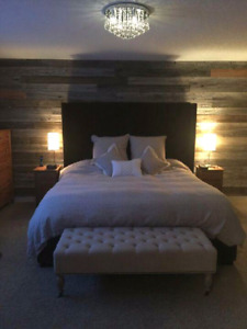 Barnwood Feature Wall Home Decor Reclaimed Wood