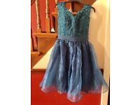 Ladies blue evening mini dress size 8-10