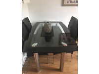 Beautiful Glass Dining Table (with or without chairs)