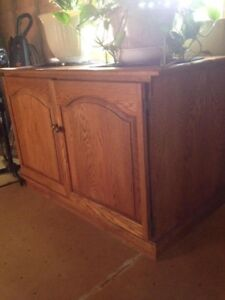 Solid oak stand