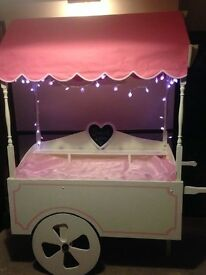Candy Cart with lights, jars, scoops and prongs