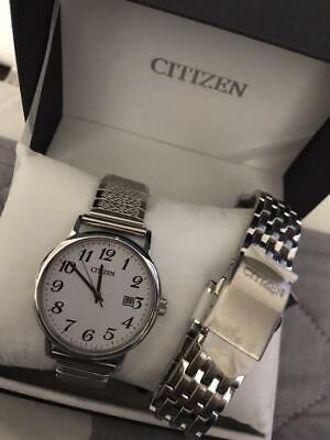 Citizen BM6770-51B Date Used Eco-Drive Solar Mens Watch Authentic Working