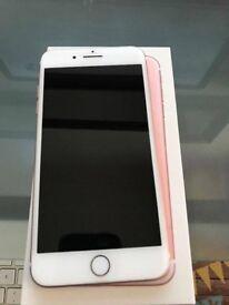 iPhone 7 Plus in rose gold. 32GB