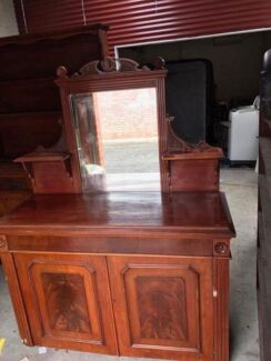 Beautiful hall stand cabinet with mirror top