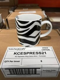 Contemporary Espresso Coffee Cups Mugs Set of 6 or 4 Many Types Available Bargain