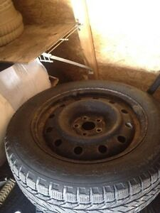 205/60R16 Bf Goodrich winter slalom tires on rims