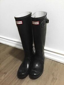 Hunter boots, size 8W
