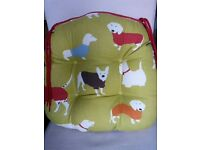 Dog Print Seat Cushion