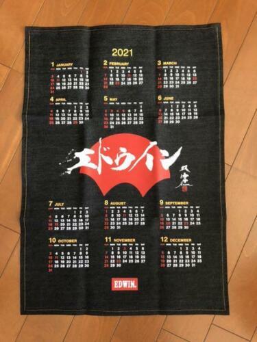 EDWIN+Denim+Banner+Tapestry++Denim+Calendar+2021+Japan+71cm%2827.9in%29%C3%9750cm%2819.7in%29
