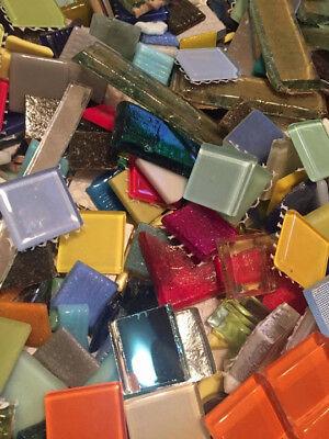 Mosaic Craft Tiles (Huge Assorted Lot of Mixed Glass Mosaic Craft Tiles!)