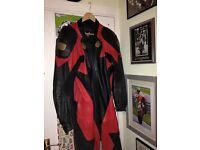 Frank Thomas leather motorcycle suit