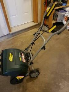 Yardworks 10A Electric Snowthrower, 16-in like new used once!