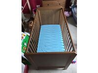 Ikea cot bed and mattress in excellent condition