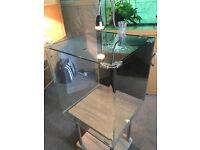 Optie white glass fish tank