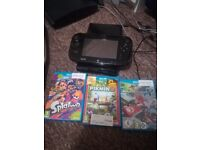 Nintendo Wii U 32GB black + MarioKart, Splatoon, & Pikmin 3