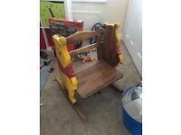Winnie the Pooh Wooden Rocking Chair
