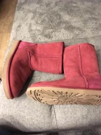 Pink ugg boots. Size 5