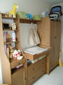 Ikea Leksvik furniture (changing table/drawer unit, hooks, 2x tall narrow unit)