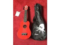 Red Ukulele- with tags