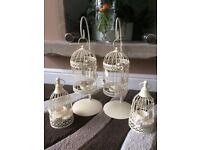 Birdcage tea light holders x 4