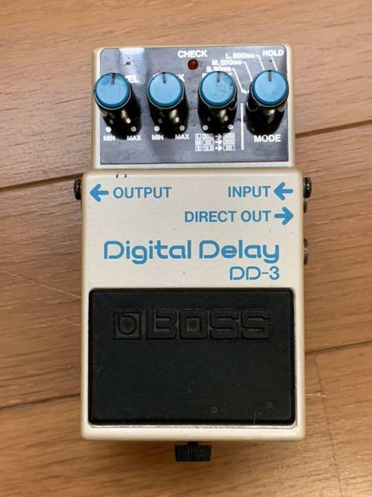 BOSS DD-3 Digital delay JUNK made in JAPAN 1988 VINTAGE effect pedal