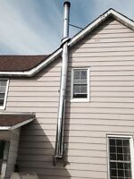 """6"""" wide stainless steel chimney"""