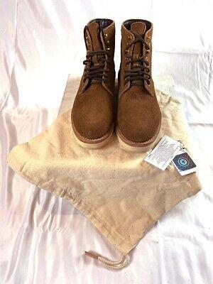 New in Box Visvim virgil boots folk brown suede size 10.5