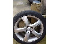 17 inch chrome alloy wheels 225 x 45 x 17 excellent tyres taken off peugeot 307