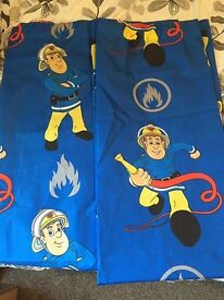 Kids fireman sam curtains
