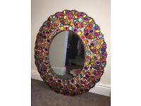 Mirror: gorgeous flowered jewelled unusual mirror £30 Ono must be sold due to house move