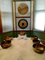 SOUND MASSAGE WITH SINGING BOWLS AND GONGS