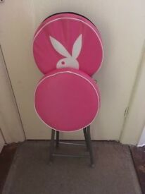Foldable Chair, 6 playboy cushions 2 bags one black other pink and black purse