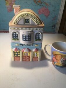 Tea shop Cookie jar ceramic