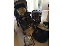 Pushchair, car seat and isofix base (Jane)