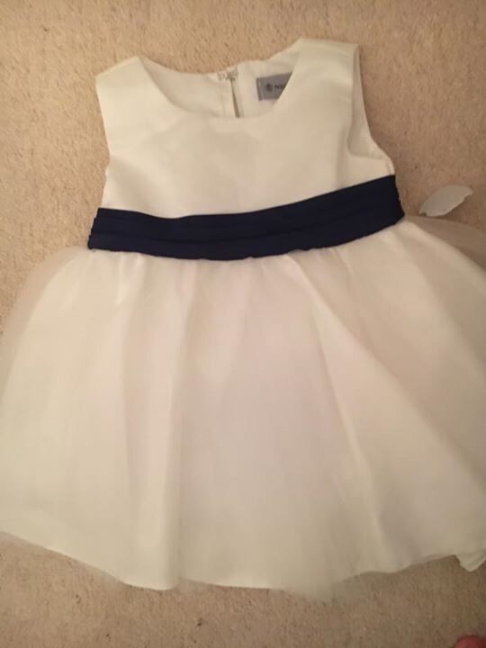 Ivory and navy 12 18 monthsin South Normanton, DerbyshireGumtree - Gorgeous ivory and act dress I have 2 of these size 12 18 months. Never been worn still have original tags on. From pet and smoke free home