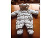 0-3 months unisex snow suit