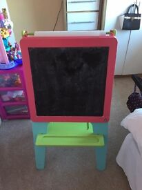 Pink easel