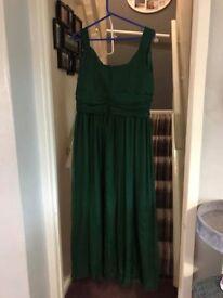 Handmade dark green bridesmaid dress