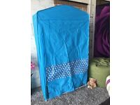 New and Boxed Ideal Stars Kids Canvas Covered Wardrobe