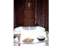 Chocolate fountion from £99 and candy floss and popcorn machine