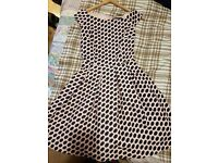 Dots pink dress, used once, Size S