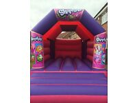 Kids Themed Bouncy Castles & Disco Dome For Hire / Rent - Shopkins Paw Patrol Mascot Etc