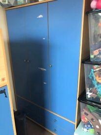 Boys wardrobe and cube
