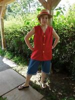 One piece Luffy Cosplay costume halloween NEW