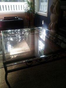 Beautiful Iron & Glass Coffee Table