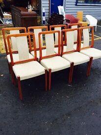 Stunning Mid Century Danish Dining Chairs, set of 8