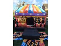 Bouncy castle disco dome adult Christmas Halloween birthday outdoor indoor from £45